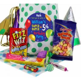 Fabulous Personalised Party Bags for Boys - Green Polka London