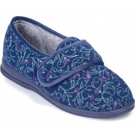 Cosyfeet Holly Extra Roomy Women's Slippers - Plum Floral 8 Women's Footwear