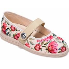 Cosyfeet Koryl Extra Roomy Women's Fabric Shoes - Navy Embroidered 7 Women's Footwear