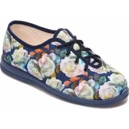 Cosyfeet Sammi Extra Roomy Women's Fabric Shoes - Chambray Blue 4 Women's Footwear