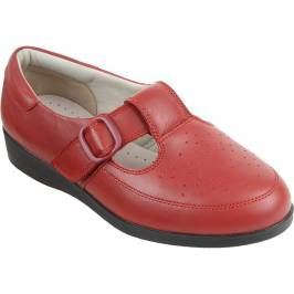 Cosyfeet Catherine Extra Roomy Women's Shoes - Warm Red 6 London