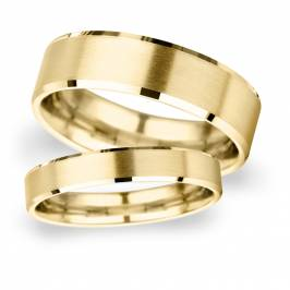 2.5mm Traditional Court Heavy Polished Chamfered Edges Wi ... Women's Jewellery